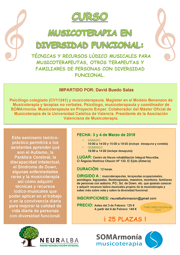 Formación: Musicoterapia en Diversidad Funcional